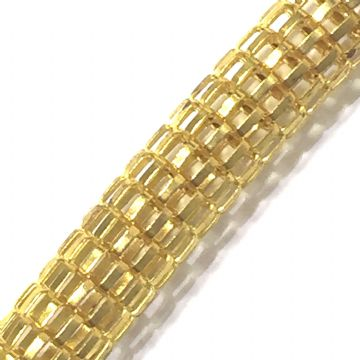 6mm Mesh chain -- gold colour -- 1 meter -- 6503002